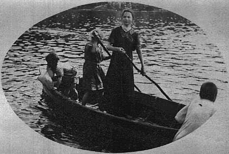 72 woman in boat